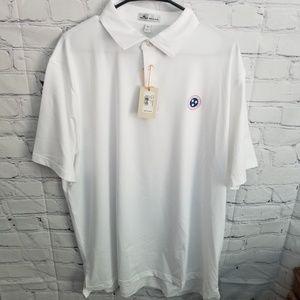 NWT Peter Millar White Polo size XL
